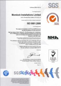 MorelockInstallationsISO9001Certificate2018issue3